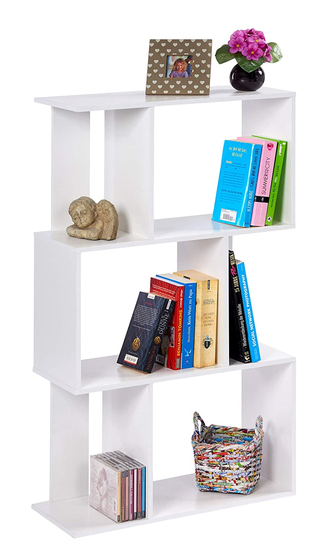 ts-ideen Libreria Mensoliera 102,5x60 cm Color Bianco con 6 vani