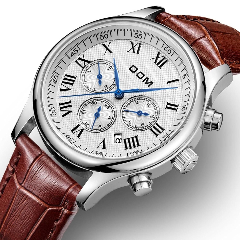 Automatische mechanische Uhr-Sport Stahlband Herrenuhr- Leder Armband wasserdicht Uhr-A