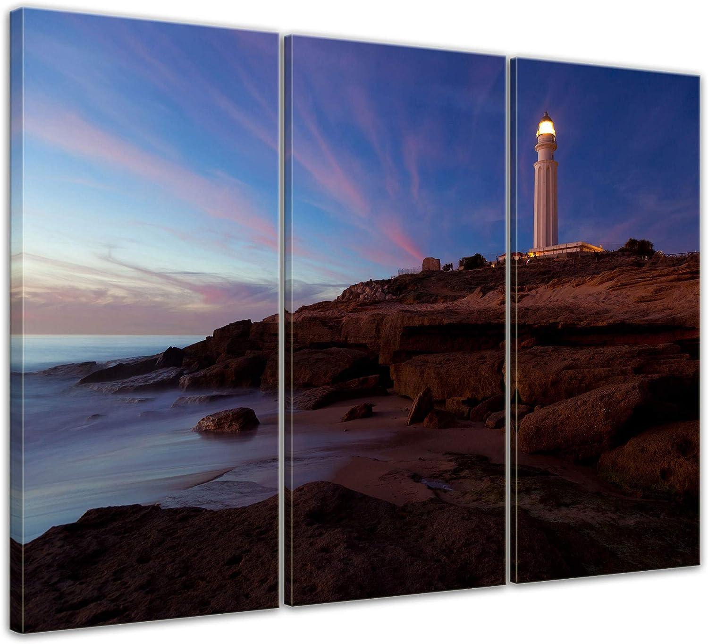 Bilderdepot24 Cuadros en Lienzo Faro de Trafalgar Cadiz - 180 x ...