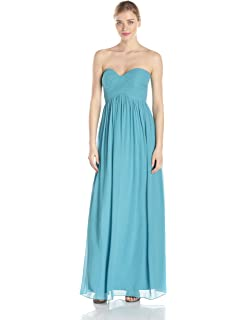 Donna Morgan Womens Lauren Sweetheart Chiffon Gown