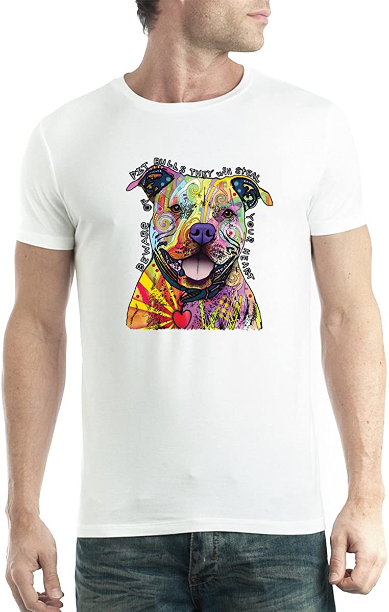Pit Bull Love Friendly Dog Men T-shirt XS-5XL