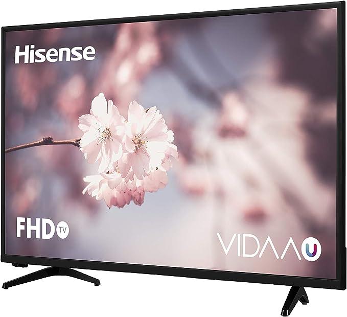 Hisense H39A5600, Smart TV VIDAA U, Natural Color Enhancer, Motion Picture Enhancer, Clean View, Mando Acceso One Touch, WIFI, WIFI Ethernet USB, 39