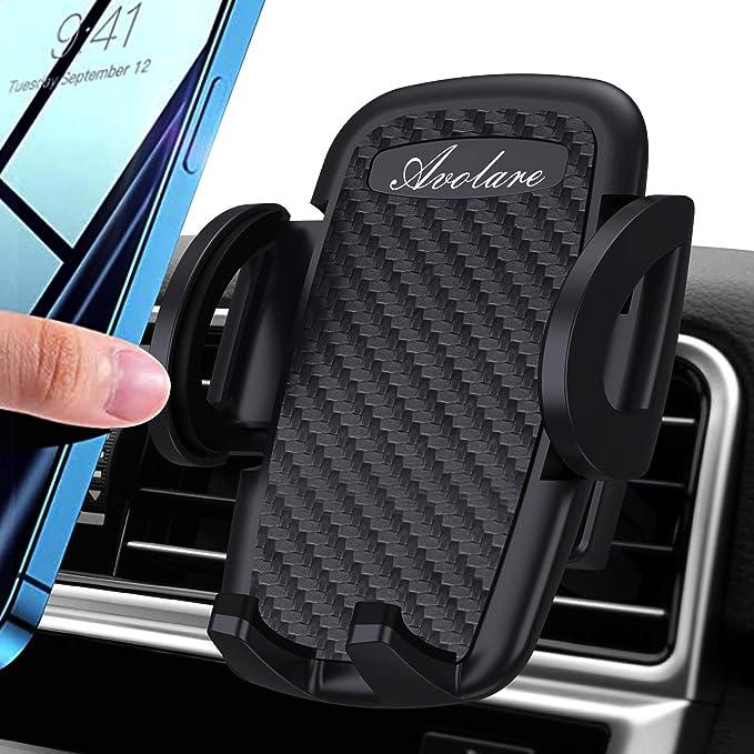 Avolare Handyhalterung Auto Handyhalter Fürs Auto Lüftung Handy Kfz Halterungen Universal Kompatibel Für Iphone 11 Pro Xs Max Xr X 8 7 6 Samsung S10 S9 S8 Huawei Xiaomi Matte Schwarz Elektronik