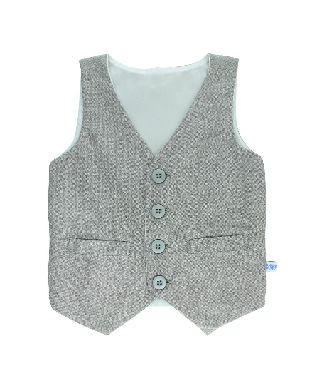 RuggedButts Little Boys Gray Chambray Vest BVWGYXX-CH00-TDLR