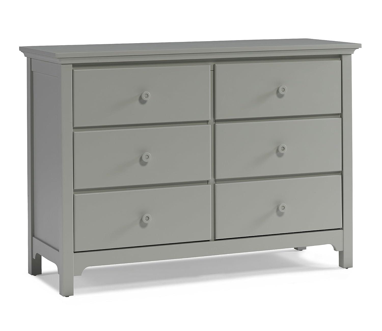 Ti Amo RTA 6 Drawer Double Dresser, Misty Grey
