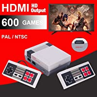 HDMI HD Retro Classic TV Game Console NES Built-in 600 Games, 2 Controllers Included