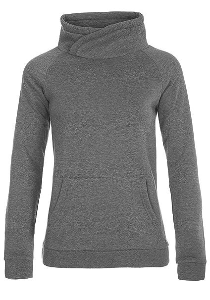 Desires DerbyCrossTube Sudadera Suéter Jersey Corta para Mujer con Cuello Alto: Amazon.es: Ropa y accesorios