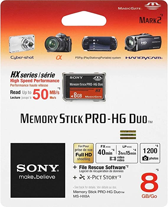 Sony Ms Hx8a Memory Stick Pro Hg Duo Hx Speicherkarte Computer Zubehör