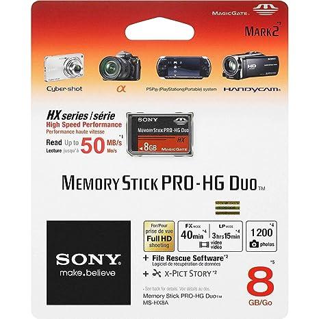 Sony MSHX8A 8GB Memoria Flash - Tarjeta de Memoria (Negro ...