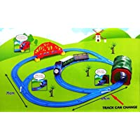 RV Media Battery Operated Tomas Train Set with Changeable Tracks, over-Bridge, Tunnel with Light Sound and Accessories (Multicolour)
