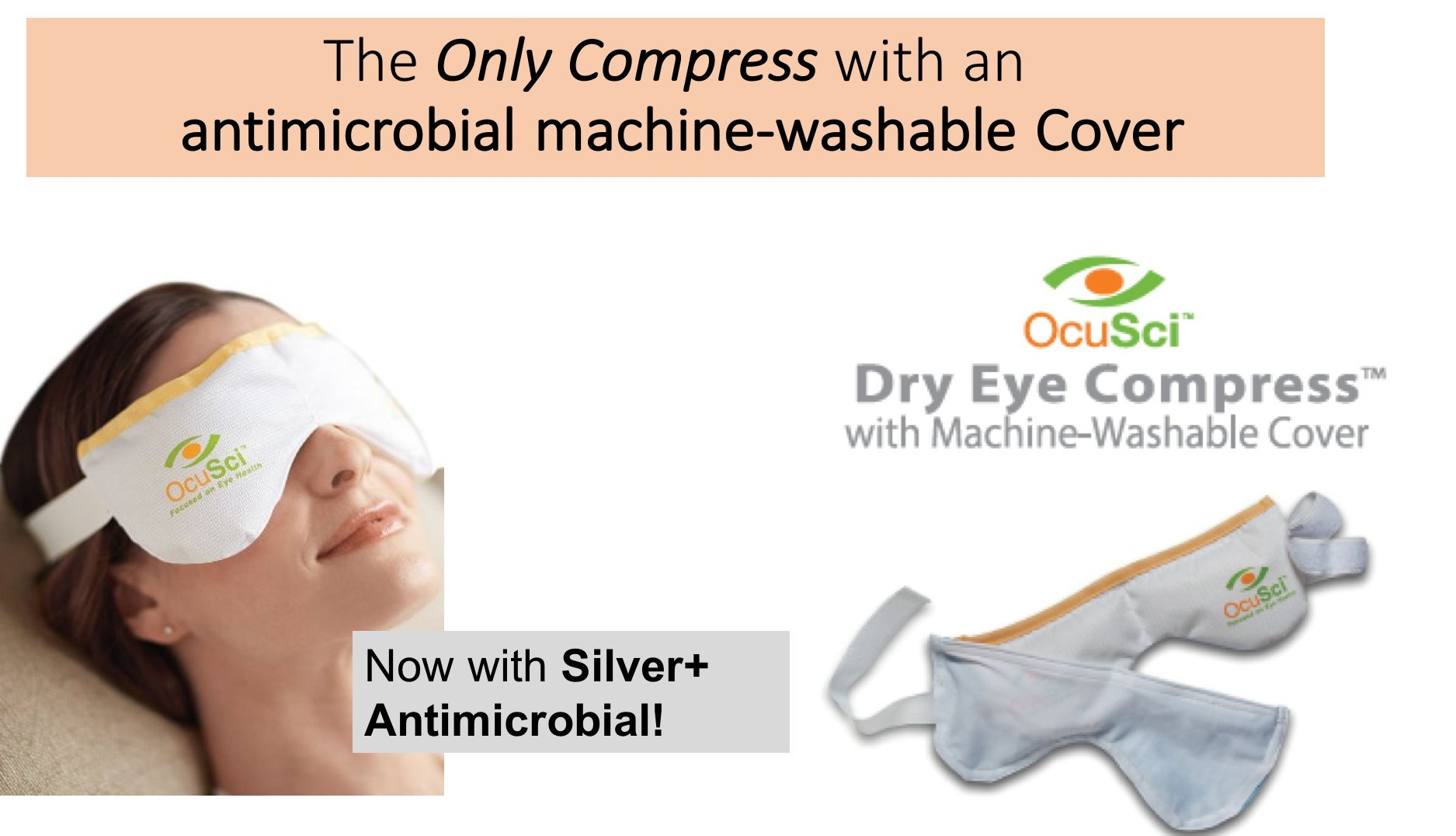 Dry Eye Compress With HydroHeat Machine Washable Cover, Save 40%, Microwave for Moist Heat Therapy or Freeze for Cold Therapy to Treat: Dry Eye Syndrome, TMJ, Sinus Pressure, Stress. by Solana Health Inc.