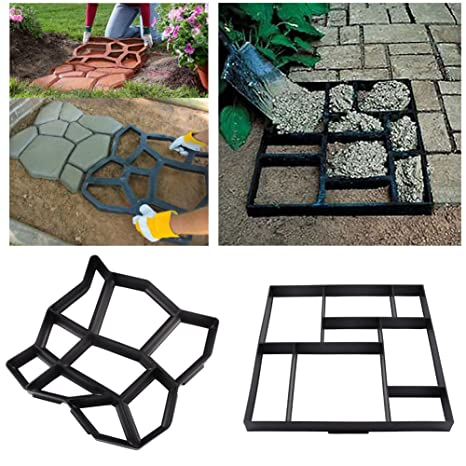 4 Styles DIY Walkway Maker Mold Stepping Stone Paving Mold Personalized For  Garden Yard Driveway Plastic