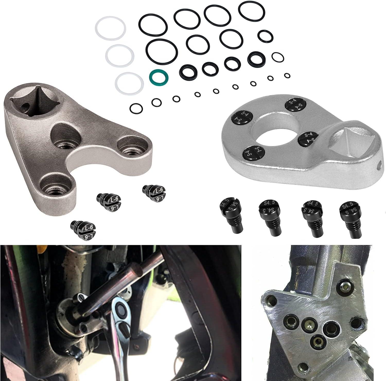 Outboard Trim/Tilt Pin Wrench MT0006-32mm x 4mm/4.5mm & MT0009-35mm x 6mm Remove Trim/Tilt Caps, Trim Seals and 115225FS Fast Strike Power Trim Tilt Seal Kit for Showa,Yamaha, Suzuki, Honda