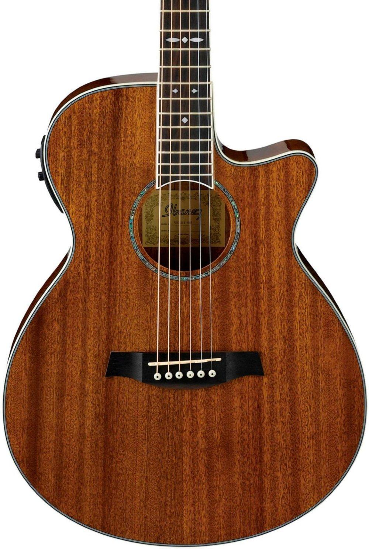 Ibanez AEG12IINT Acoustic-Electric Guitar, Natural Finish