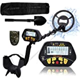 Esright Metal Detector for Adults & Kids, Gold Metal Detector with Waterproof Sensitive Search Coil, 43-52 Inch Adjustable He
