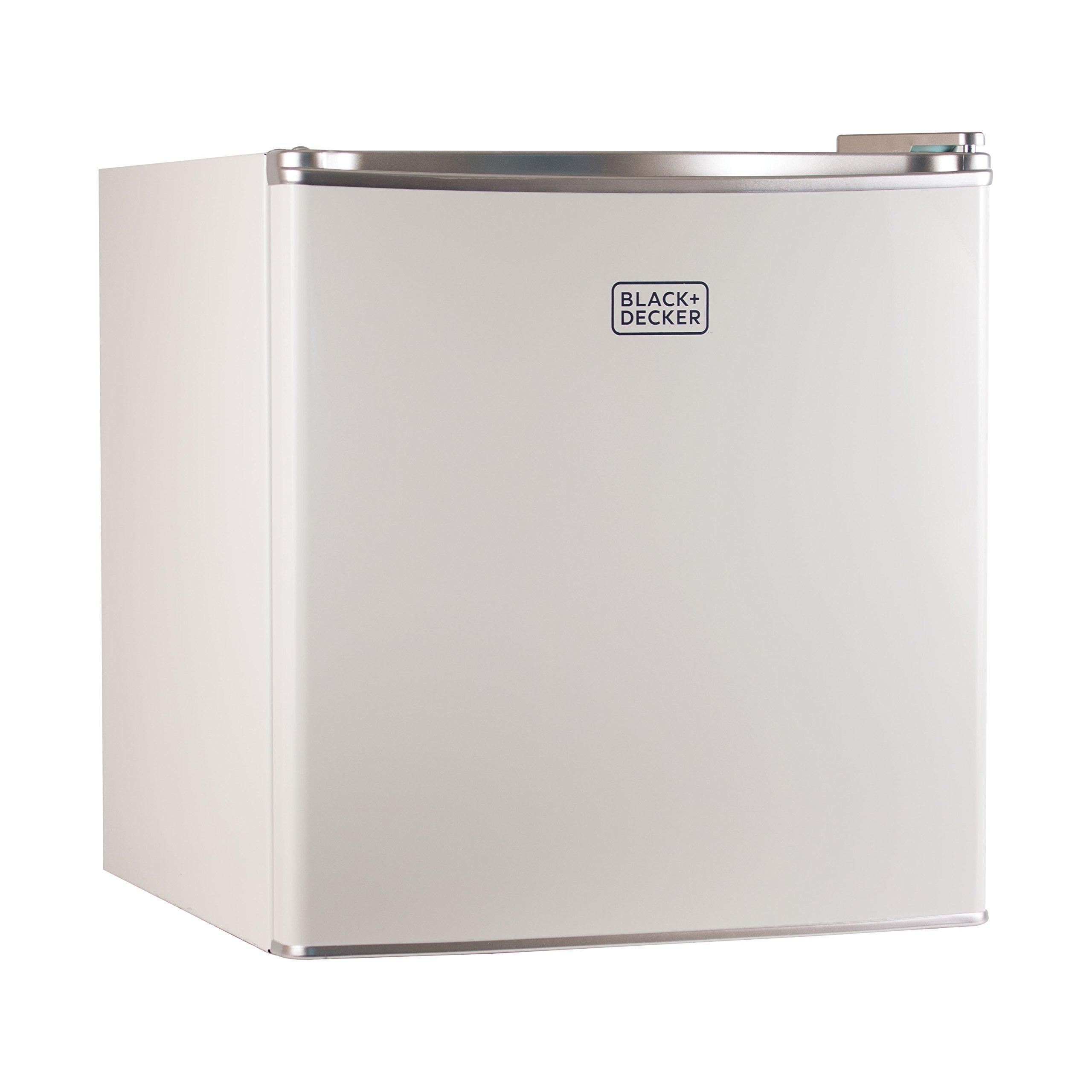 BLACK+DECKER BCRK17W Compact Refrigerator Energy Star Single Door Mini Fridge with Freezer, 1.7 Cubic Ft., White by BLACK+DECKER