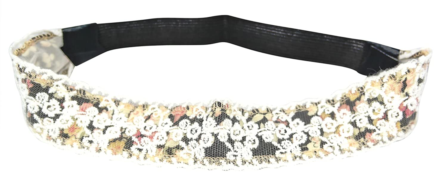 Amazon.com  Chicky Chicky Bling Bling Girls Vintage Floral Lace Headband  Womens Black  Shoes 45b4a70a5d6
