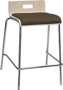 KFI Seating Jive Series Counter Stool, Fudge Fabric