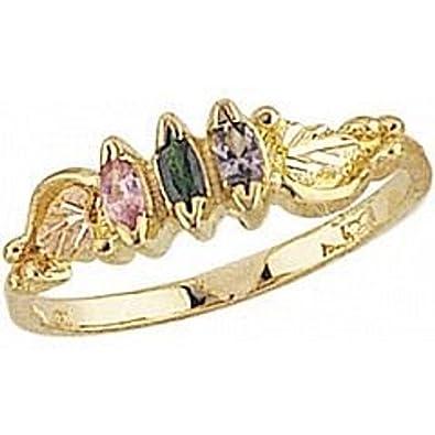 c103f5d9f19df Amazon.com: Black Hills Gold Mother's Ring - 4 stones - G927: Jewelry