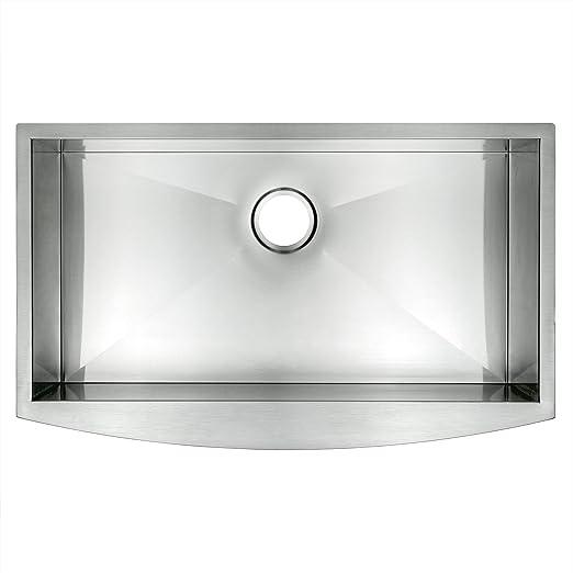 akdy 33   x 20   x 9   single bowls 18 gauge undermount apron handmade stainless steel kitchen sink     amazon com akdy 33   x 20   x 9   single bowls 18 gauge undermount apron      rh   amazon com