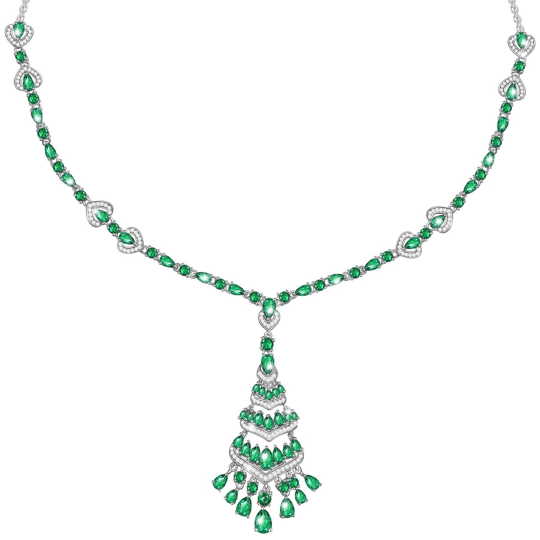 MARENJA Regalo San Valentín Collar Mujer de Moda Colgante Bohemio Verde con