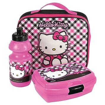 Hello Kitty – Bolso a bandolera con recinto a merienda y botella para sortir en Llanura