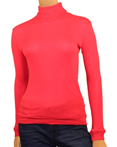 4b270fcb5fd850 Maks Ladies Supersoft Long Sleeve Top Turtleneck at Amazon Women's Clothing  store: Fashion T Shirts