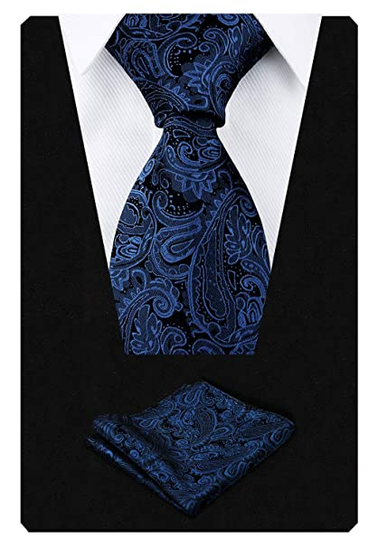 New Men/'s Polyester Woven pocket square hankie only blue green paisley wedding