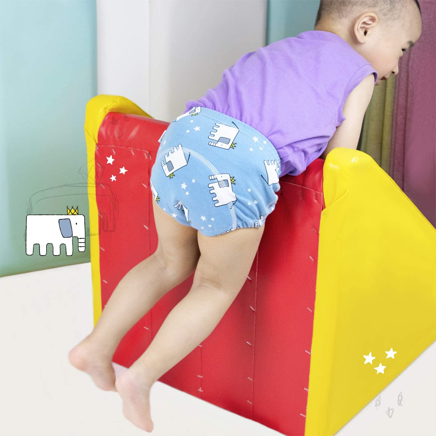 Max Shape Baby Toddler 2 Pack Cotton Training Pants Toddler Potty Training Underwear for Boy and Girl 12M,2T,3T,4T