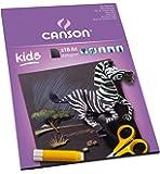 Canson KidsBlack - Bloc de cartulina negra,