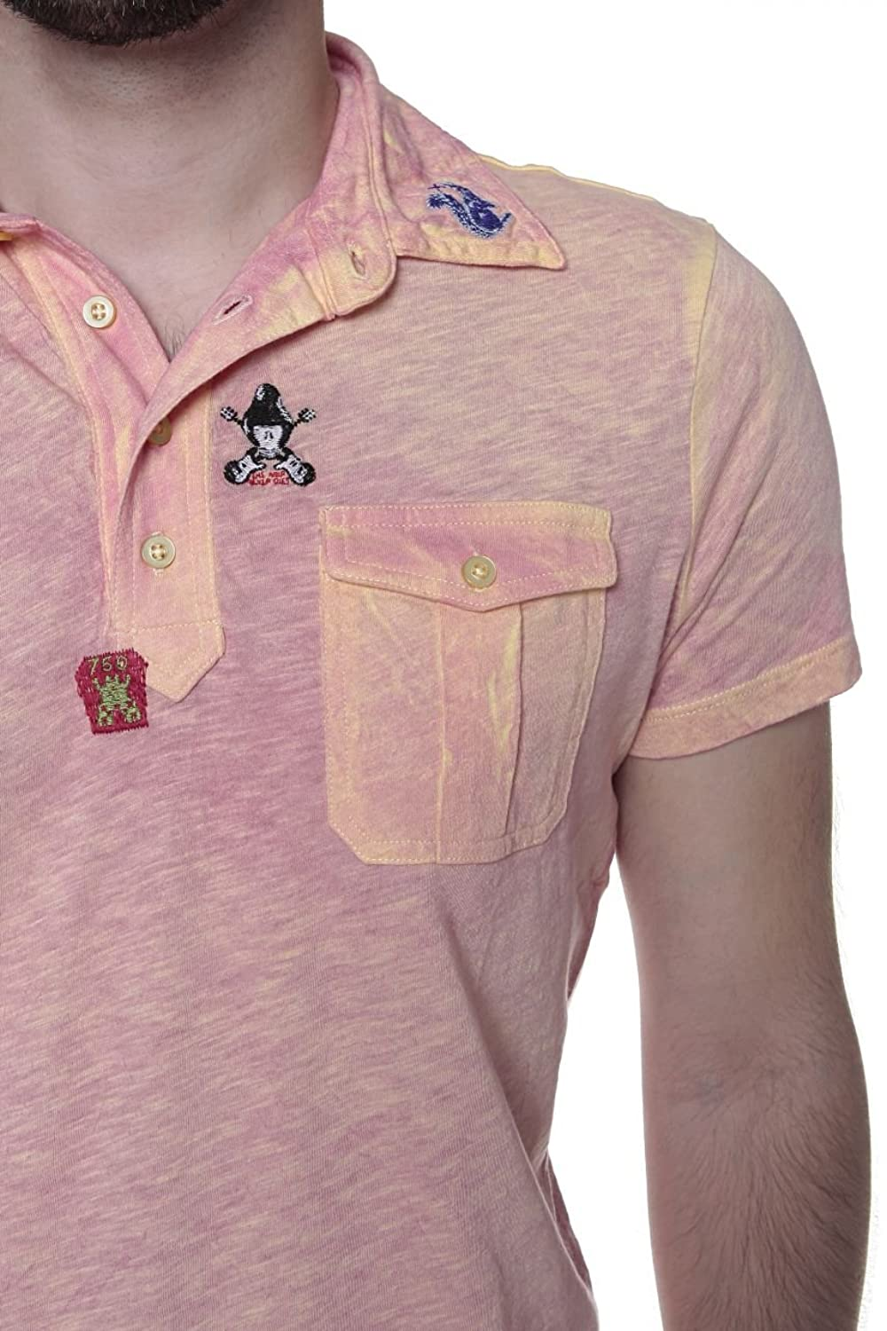 Custo Barcelona Polo Shirt Squirrel, Color Coral, Size: XS: Amazon.co.uk:  Clothing