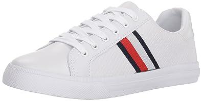d802917fce97c2 Tommy Hilfiger Women s LEXX Sneaker White 6 Regular US