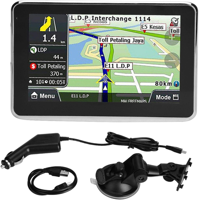 Navegador GPS para automóvil, pantalla táctil universal de 5 pulgadas Navegador para automóvil Navegación GPS DDR256M 8G MP3 FM Mapa de Europa 508