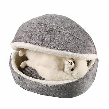 Ballylelly Hamburger Cama para Perros con Funda Extraíble Perro Gato Cojín Saco de Dormir (Color: Gris): Amazon.es: Productos para mascotas
