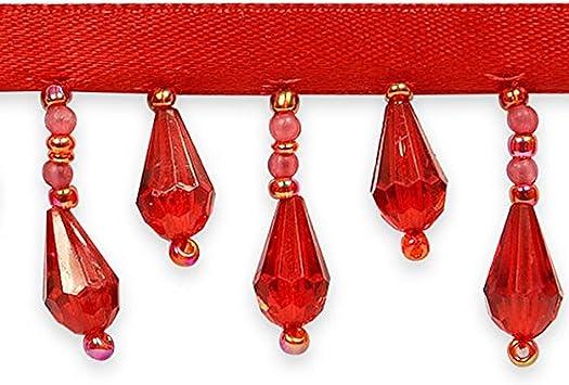 # 7 Wildgirl European Style Beaded Crystal Droplet Handcraft Gimp for Drape 12.5yd