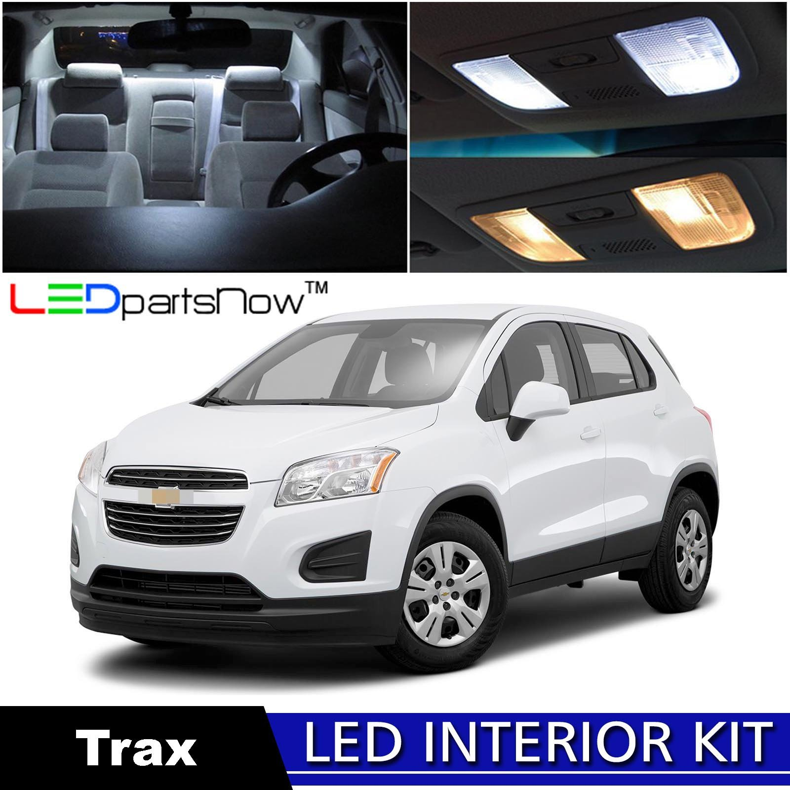 LEDpartsNow 2013-2018 Chevy Trax LED Interior Lights Accessories Replacement Package Kit (13 Pieces), WHITE