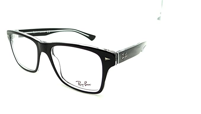 05b979e2b59 Image Unavailable. Image not available for. Colour  Ray-ban Rx Eyeglasses  Frames Rb 5308 2034 53x18 Black on Transparent