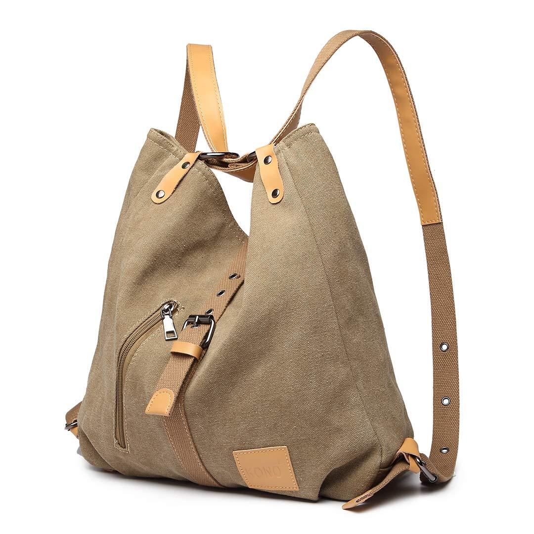 Gris Crossboby sacs fourre-tout multi fonctionnel polyvalent sacs /à main en toile pour les filles femmes Kono Sac /à bandouli/ère dos sac /à dos durable de grande capacit/é Voyage pour ordinateur