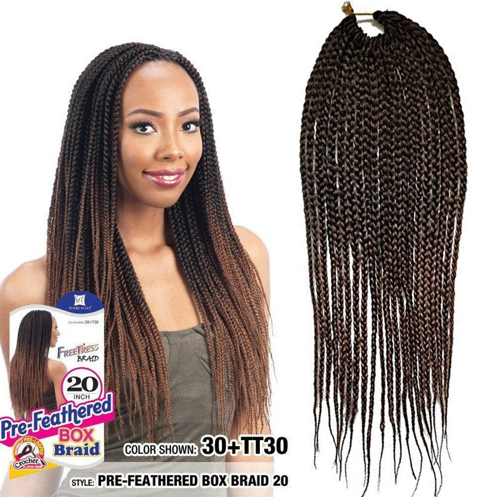 Amazoncom Flyteng 6packs Box Braids Crochet Hair 22 Strandspack