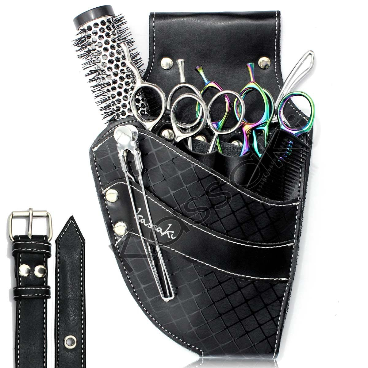 Hairdressing Scissor Pouch by Kassaki Black Diamond - Tool Belt Bag Limited Edition