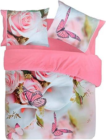 Lenzuola Matrimoniali Pierre Cardin.Completo Lenzuola Pierre Cardin Butterfly Farfalla Digitale 4d