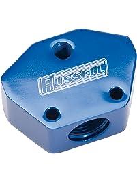 HITSAN 90 Degree Car Swivel Hose End for Braided Nylon Red Blue Aluminum One Piece Deck Hardware