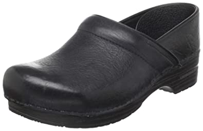Dansko Men's Narrow Professional Clog,Black Oiled,45 M EU (11.5-12
