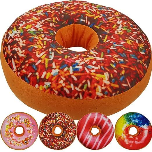 Cojín Donut 40 cm - Cojín decorativo suave y mullido en ...