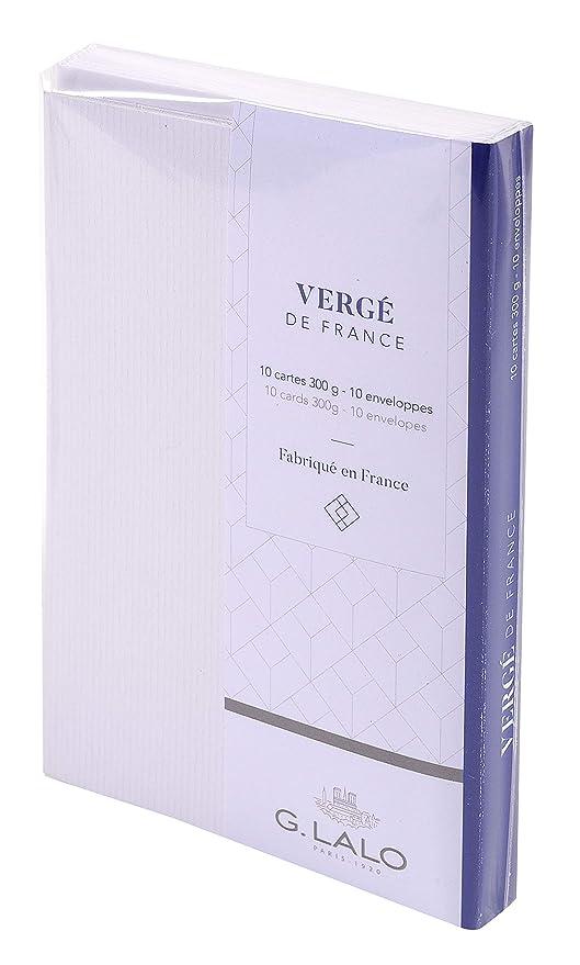 Georges Lalo 25650L Lot De 10 Ensembles Cartes Visite 300 G Avec Enveloppe 1450 X 950 150 Cm Extra Blanc Amazonfr Fournitures Bureau