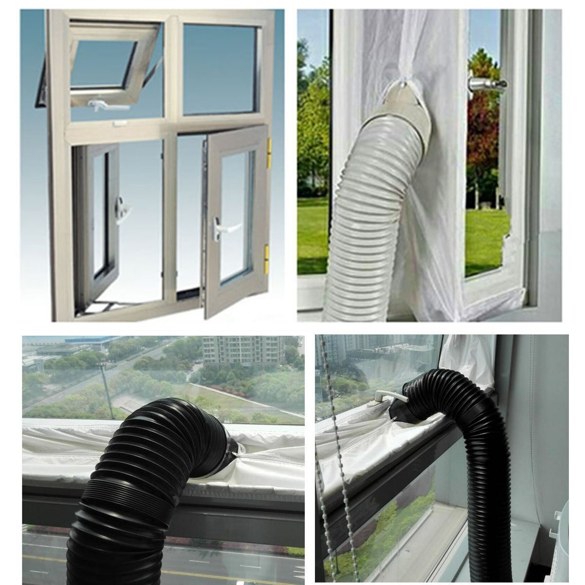Samantha Universal AirLock Window Seal for Mobile Air-Conditioning Units And Tumble Dryer