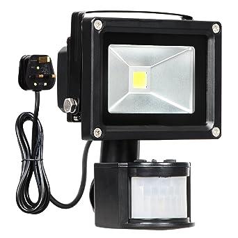T sun motion sensor flood light 10w led pir floodlights daylight t sun motion sensor flood light 10w led pir floodlights daylight white 6000k aloadofball Gallery