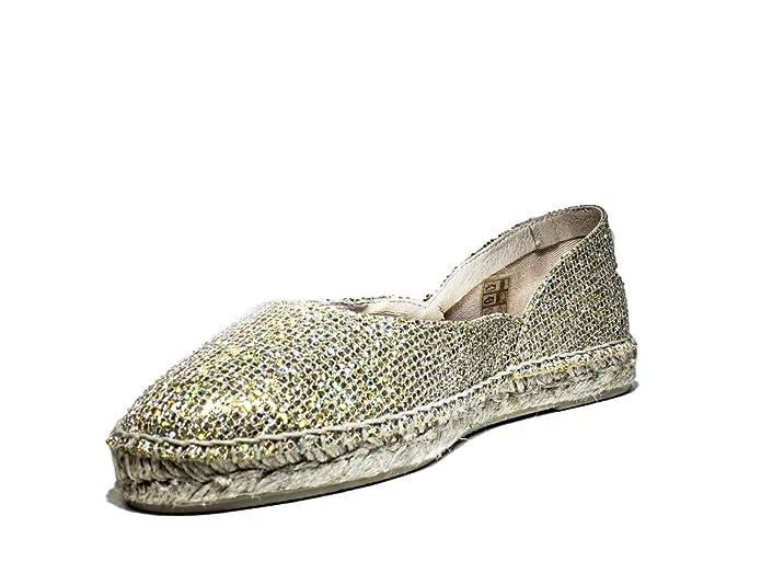 VIGUERA 90006091 BAILARINA zapatos de la señora BOTAS reducido, la nueva colección primavera-verano 2016 de tela de oro: Amazon.es: Zapatos y complementos