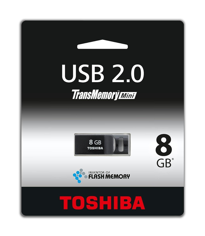 Toshiba Thnu08sipblackbl5 8gb Transmemory Mini Usb 20 Flash Drive Disk 2 Gb Black Computers Accessories