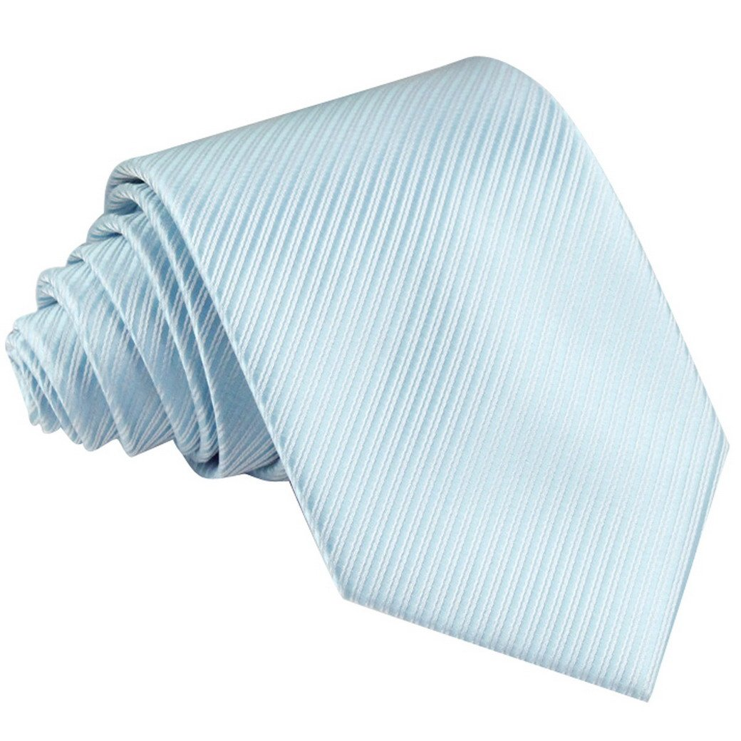 Panegy Men Skinny Silk Satin Plain Formal Solid Color Neck Ties Collection Light Blue